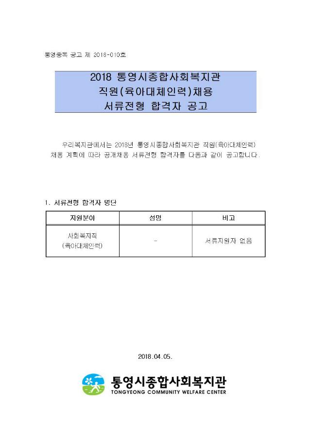 2018년 직원 채용 서류채용 합격자 공고(03월)_서류합격자 없음001.jpg